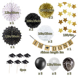19pcs Graduation Party 2019 Decoration Set