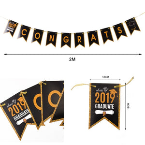 "Graduation Party Decoration ""Congrats Class of 2019 Banner"" Set"