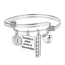 Load image into Gallery viewer, Teacher Gift Charm Bracelet