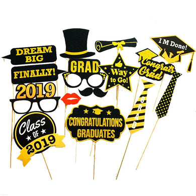 13Pcs Funny Graduation Photo Booth Class of 2019