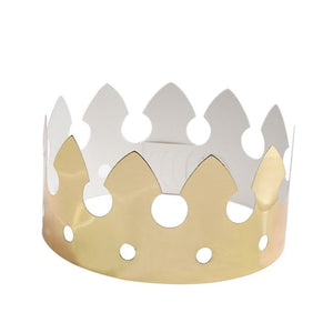 12pcs Children's Golden Crown Hats
