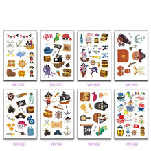 Load image into Gallery viewer, 10 Sheets/Set Kids Pirate Tattoo & Pirate Sticker Set