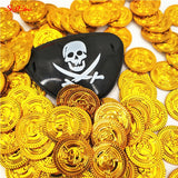 50Pcs Pirates Gold Plastic  Coins