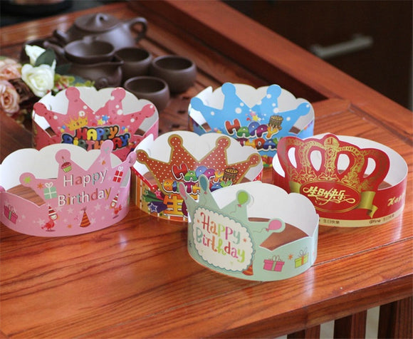 10pcs/pack Cartoon Birthday Party Hats