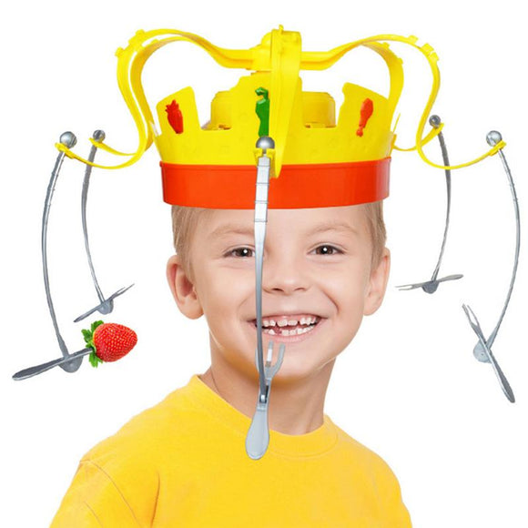 Party Crown Food Hat Tricky Toy Chow Crown Game Party Funny Hat