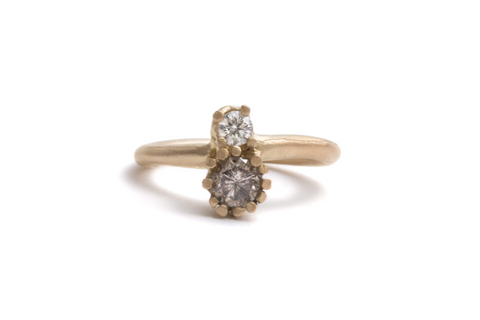 engagement ring 18ct yellow gold diamond