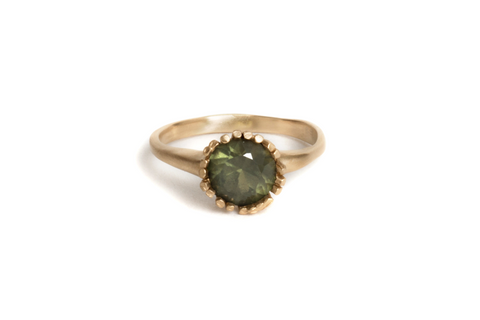 Engagement ring, 18ct yellow gold, Australian sapphire