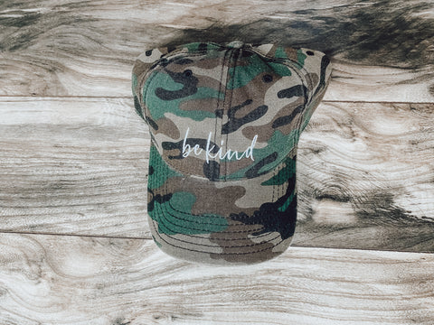 Be Kind Camo Hat