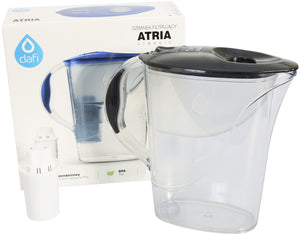 Water Filter Jug Dafi Atria Classic 2.4L with Free Filter Cartridge - Graphite - Printing Pleasure