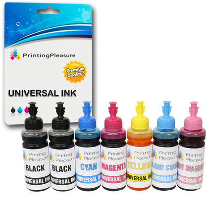 6 XL Universal Refillable Ink Compatible - 100 ml - Printing Pleasure
