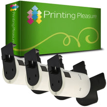 Load image into Gallery viewer, DK-11207 58mm x 58mm White Round compatible with Brother P-Touch - Printing Pleasure