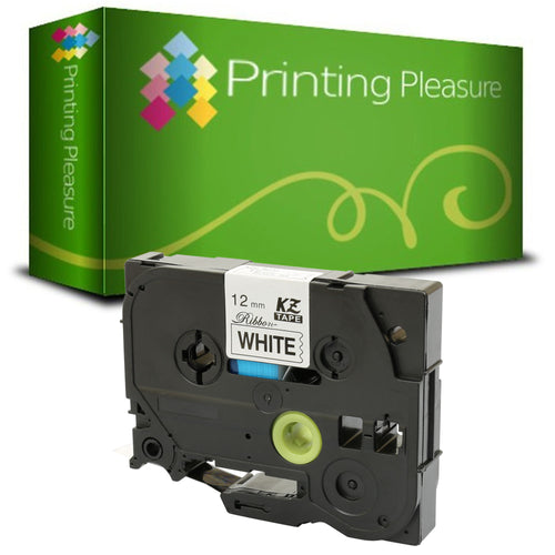 TZeR231 Black on White (12mm x 4m) Ribbon Tape compatible with Brother P-Touch - Printing Pleasure