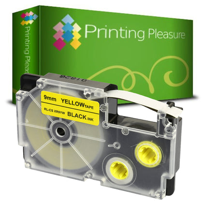Compatible XR-9YW Black on Yellow (9mm x 8m) Tape for Casio - Printing Pleasure