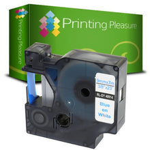 Load image into Gallery viewer, Compatible with Dymo D1 40914 Blue on White (9mm x 7m) Label Tape - Printing Pleasure