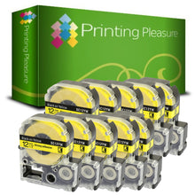 Load image into Gallery viewer, Compatible AC12YW Black on Yellow (12mm x 8m) Tape for Epson - Printing Pleasure