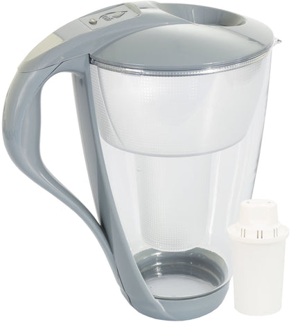 Water Filter Glass Jug Dafi Crystal Classic 2.0L with Free Filter Cartridge - Graphite - Printing Pleasure