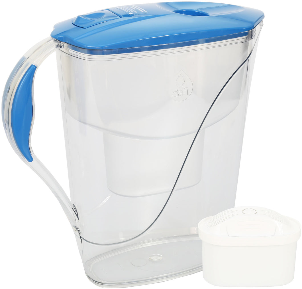 Water Filter Jug Dafi Luna Unimax 3.3L with Free Filter Cartridge - Blue - Printing Pleasure