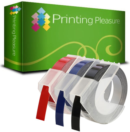 Multicolor Compatible Self-Adhesive 3D Embossing Labels Tapes 9mm x 3m for use with DYMO - Printing Pleasure