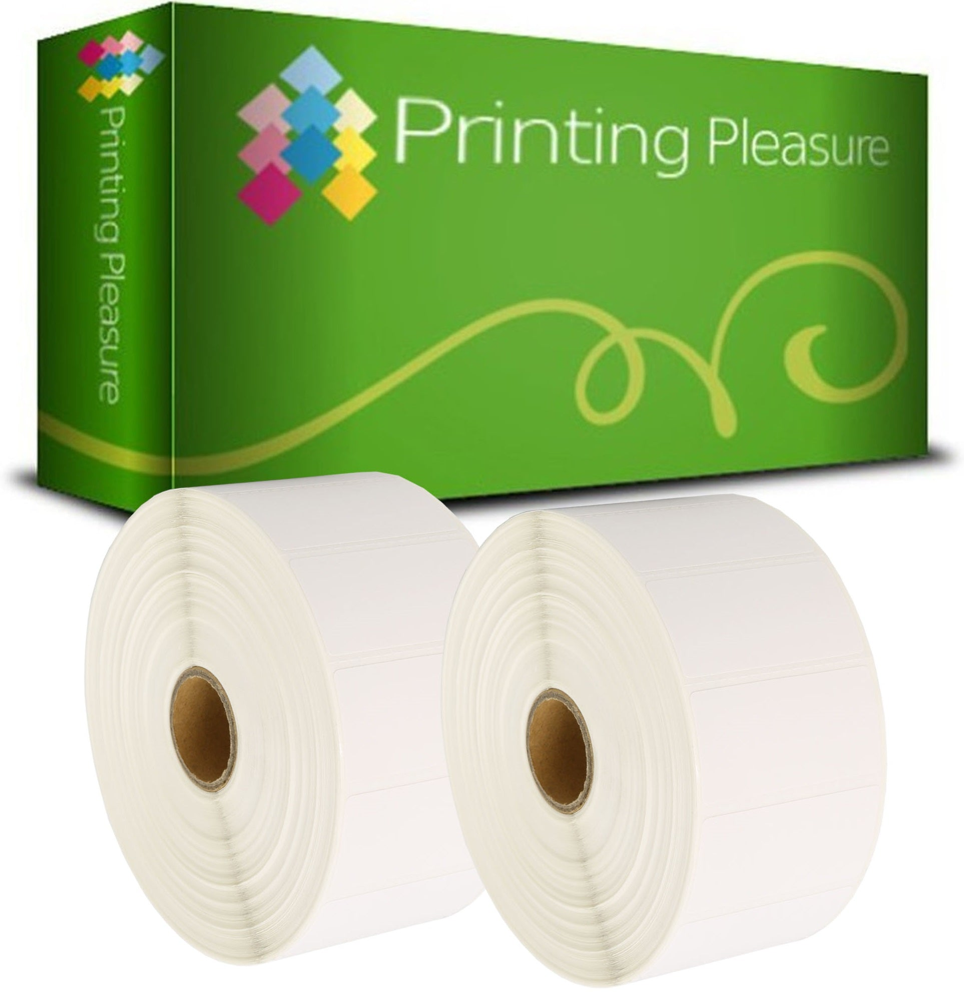 Compatible Zebra 52mm x 25mm White Direct Thermal Labels - Printing Pleasure