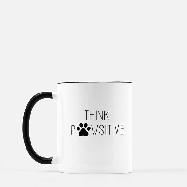 Think Pawsitive Mug - Black Standard Coffee
