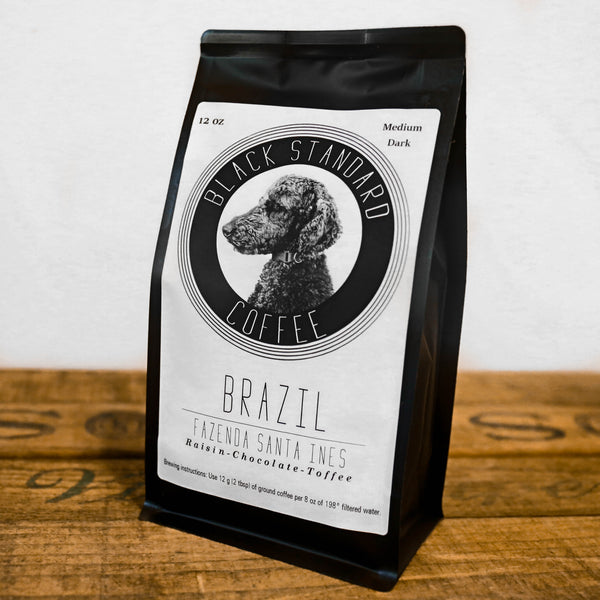Brazil Fazenda Santa Ines | Medium-Dark Roast - Black Standard Coffee