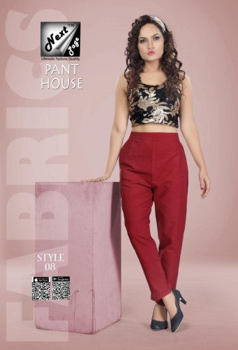 PP124 - Plazzo Pant Heavy Cotton Maroon color (Non-stretchable)