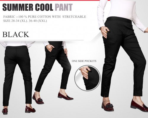 PP103 - Plazzo Pant Summer Cool Fabric Black color