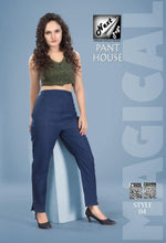 Load image into Gallery viewer, PP125 - Plazzo Pant Heavy Cotton Navy Blue color (Non-stretchable)