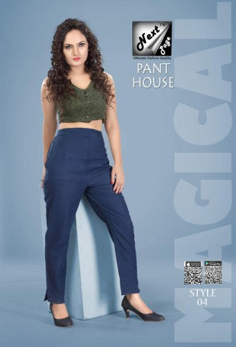 PP125 - Plazzo Pant Heavy Cotton Navy Blue color (Non-stretchable)