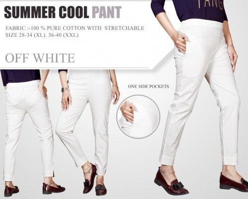 PP104 - Plazzo Pant Summer Cool Fabric White
