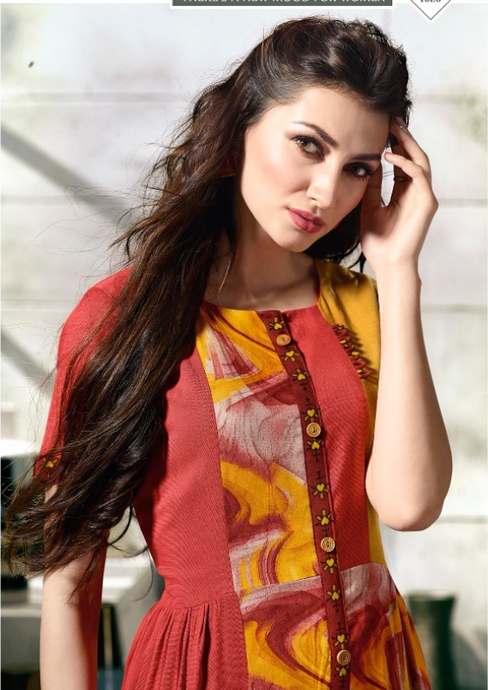 KT0702(XXL)06 - Stylish Kurti Tapsi Pannu Vol 2
