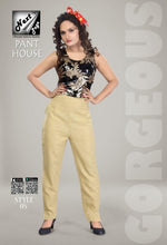 Load image into Gallery viewer, PP126 - Plazzo Pant Heavy Cotton Skin/Camel/Beige color (Non-stretchable)