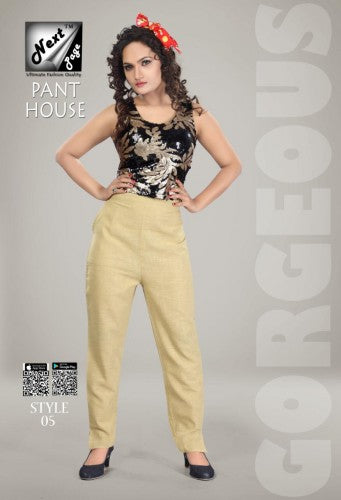 PP126 - Plazzo Pant Heavy Cotton Skin/Camel/Beige color (Non-stretchable)