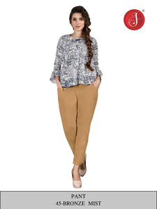 PP147 - Cotton Stretchable Pant Beige/Skin/Camel color.