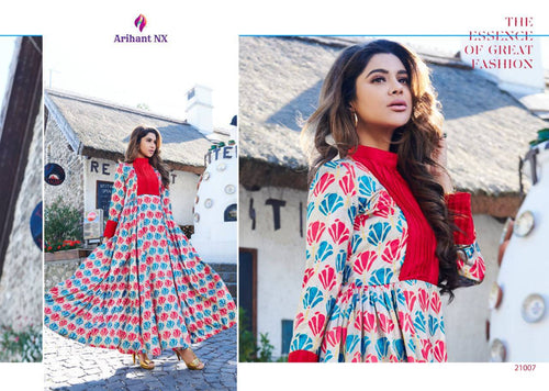 KT0104 (L) & (XL) 07 - Stylish Kurti Arihant Krishwi Vol 2