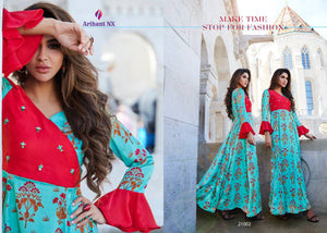 KT0104 (L) & (XL) 08 - Stylish Kurti Arihant Krishwi Vol 2