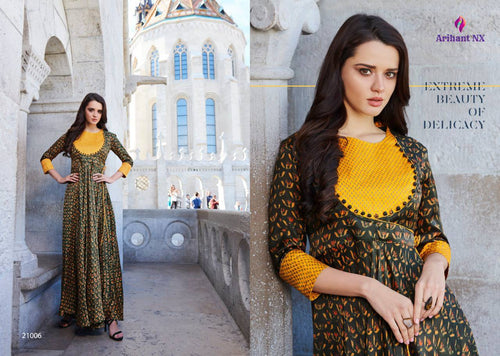 KT0104 (L) & (XL) 01 - Stylish Kurti Arihant Krishwi Vol 2