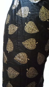 PL115 - Gharara Plazzo Black color with foil printing
