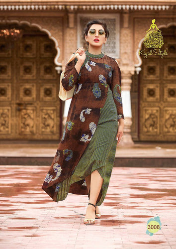 KT0101(XL)06 - Stylish Kurti Kajal Style Fashion Blossom Vol 3