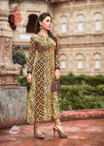KT0101(XL)08 - Stylish Kurti Kajal Style Fashion Blossom Vol 3