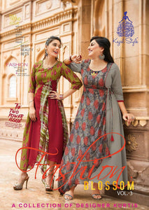 KT0101(XL)09 - Stylish Kurti Kajal Style Fashion Blossom Vol 3