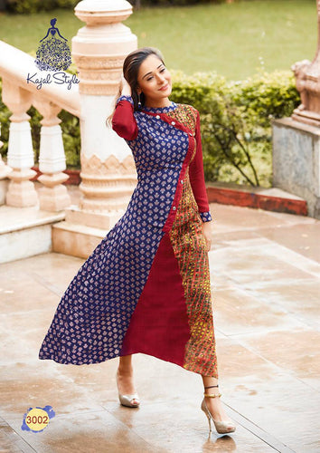 KT0101(XL)03 - Stylish Kurti Kajal Style Fashion Blossom Vol 3