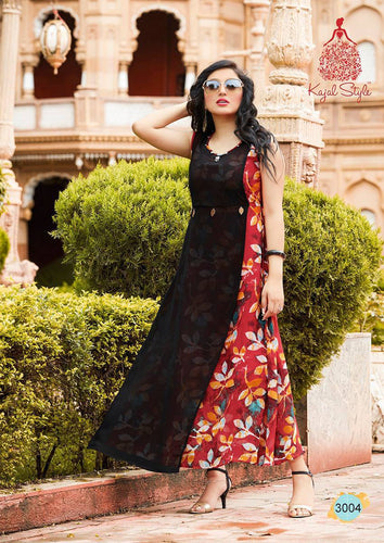 KT0101(XL)02 - Stylish Kurti Kajal Style Fashion Blossom Vol 3