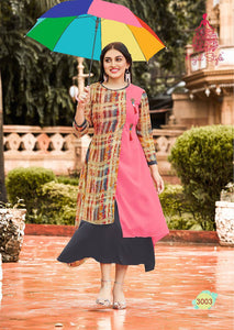 KT0101(XL)07 - Stylish Kurti Kajal Style Fashion Blossom Vol 3