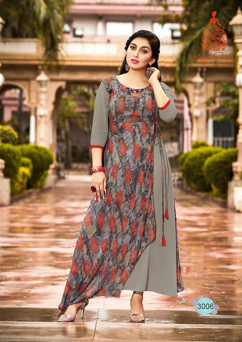 KT0101(XL)10 - Stylish Kurti Kajal Style Fashion Blossom Vol 3