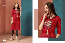 Load image into Gallery viewer, ZKT0204(L) 06 - Stylish Kurti Muskaan Style (checks)