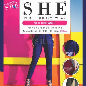 "2XL size - Stretchable Pant from Premium brand ""SHE"" (2XL size)"