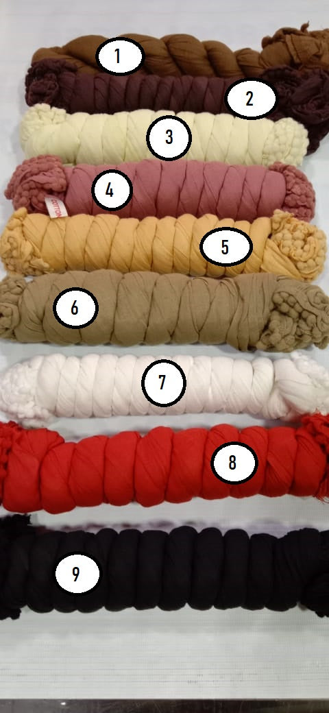 Solid Plain Cotton Dupatta (Pack of 5 for 500 Rs) (Rs 100/pc)