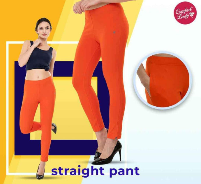 Comfort lady Straight Pants (Free Size)