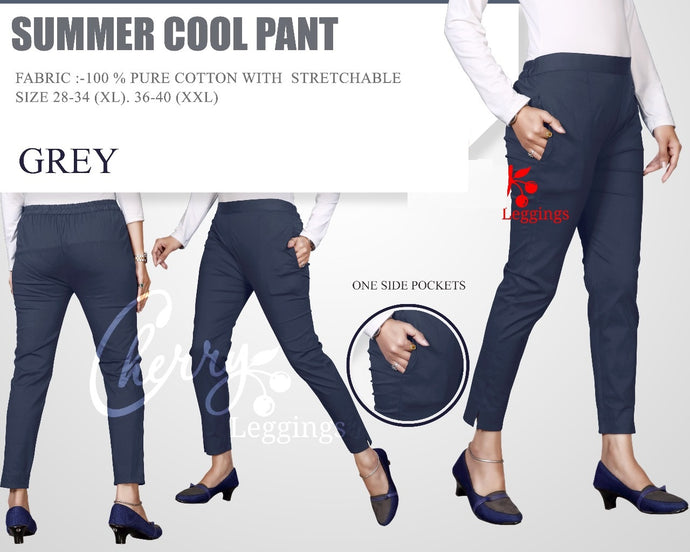 PP106 - Plazzo Pant Summer Cool Fabric Grey